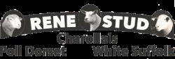 Rene Stud – White Suffolk | Poll Dorset | Charollais Logo